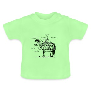 Thelwell Pony 'Western Riding school' - Baby T-Shirt