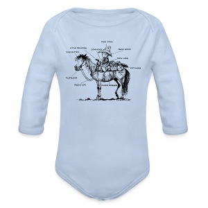 Thelwell Pony 'Western Riding school' - Longlseeve Baby Bodysuit
