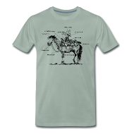 T-Shirts ~ Männer Premium T-Shirt ~ Thelwell Pony 'Western Riding school'
