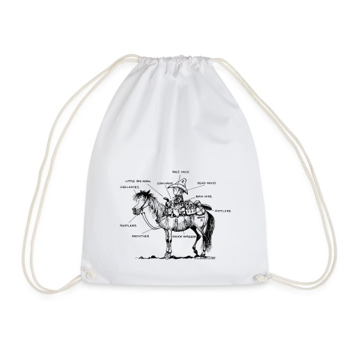 Thelwell Pony 'Western Riding school' - Drawstring Bag