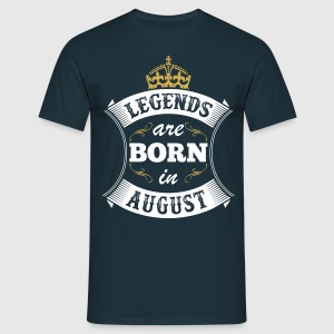 Legends Are Born In August T-Shirts - Men's T-Shirt