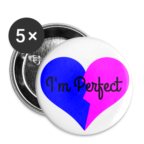 T*Flag I'm Perfect Pin - Buttons small 25 mm