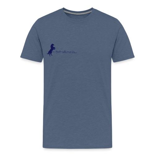 RU Font, MenShirt ( Print Digital Navy) - Männer Premium T-Shirt