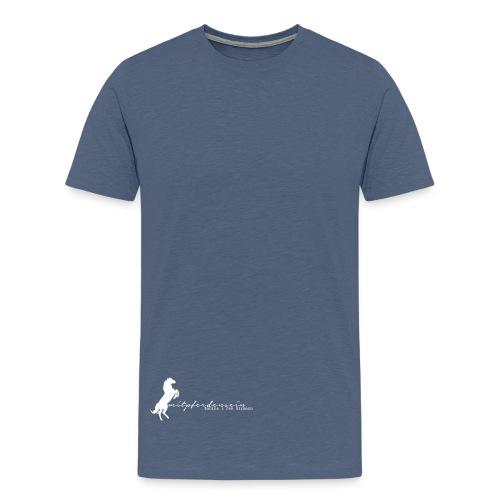 RU Font, MenShirt ( Print Digital White) - Männer Premium T-Shirt