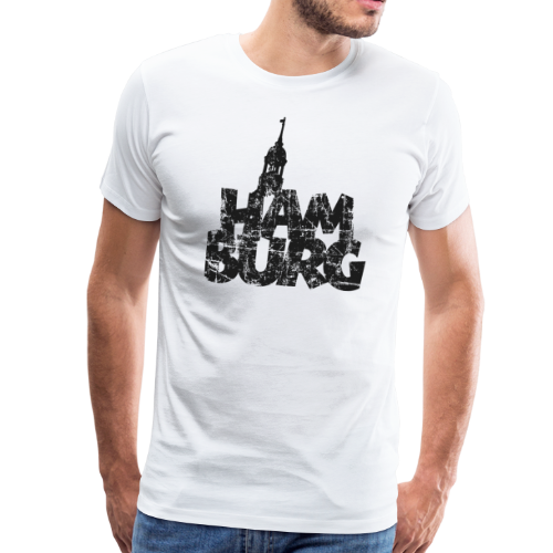 Hamburg Michel (Vintage Schwarz) S-5XL T-Shirt - Männer Premium T-Shirt
