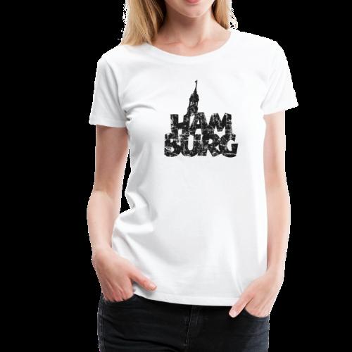 Hamburg Michel (Vintage Schwarz) S-3XL T-Shirt - Frauen Premium T-Shirt