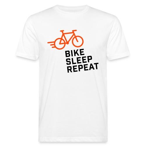 BIKE SLEEP REPEAT - Herren BIO T-Shirt - Männer Bio-T-Shirt