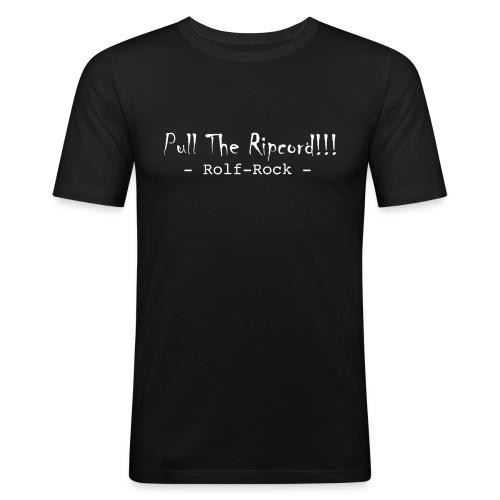 Rolf-Rock (weiße Schrift) - Herren - Slimfit - Männer Slim Fit T-Shirt