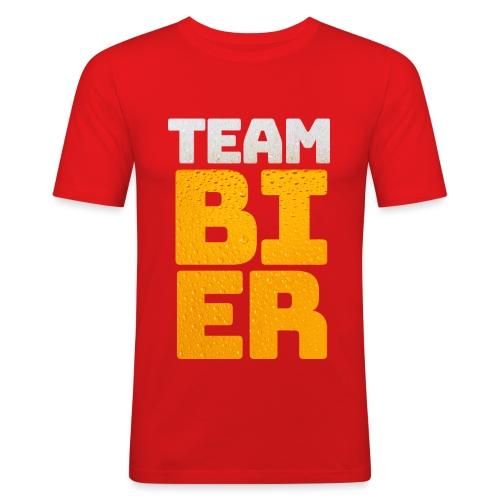Team bier mannen slimfit - slim fit T-shirt