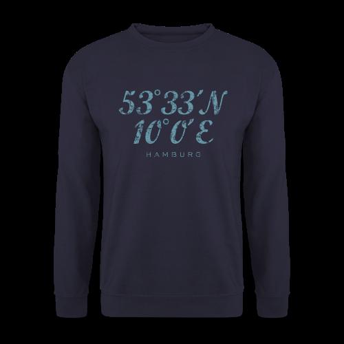 Hamburg Koordinaten (Vintage Hellblau) Pullover - Männer Pullover