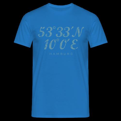 Hamburg Koordinaten (Vintage Hellblau) T-Shirt - Männer T-Shirt