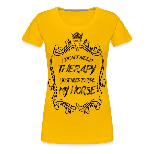 Therapy vs Horse - Women's Premium T-Shirt