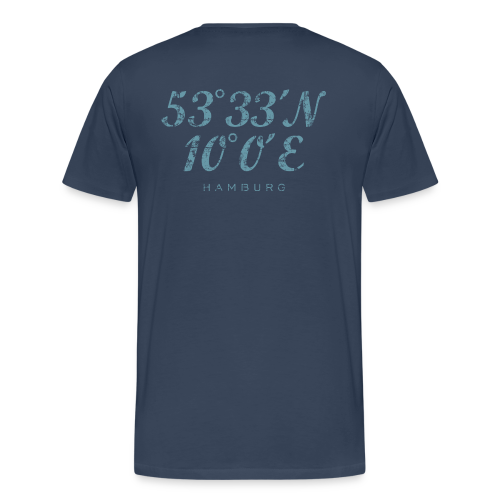 Hamburg Koordinaten (Vintage Hellblau) S-5XL T-Shirt - Männer Premium T-Shirt