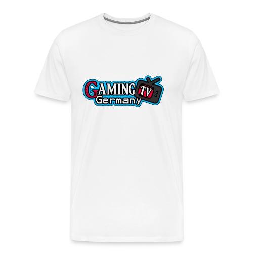 GamingTV Shirt (Weiss) Male - Männer Premium T-Shirt