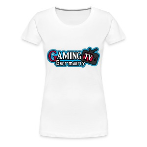 GamingTV Shirt (Weiss) Female - Frauen Premium T-Shirt