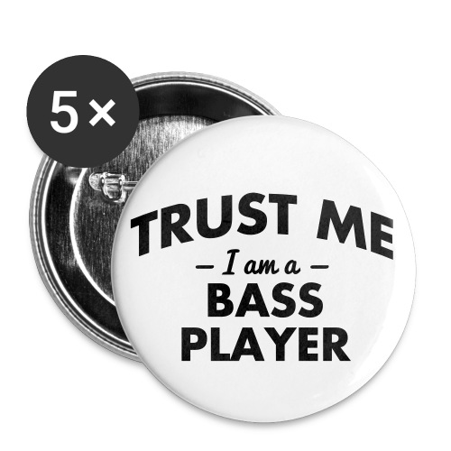 small bass player badge - Buttons small 1''/25 mm (5-pack)