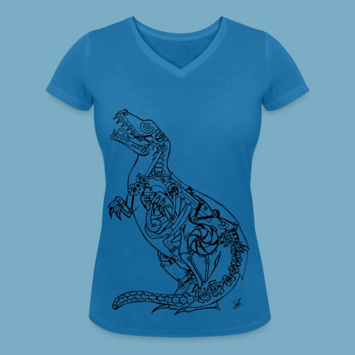 Dinosaur shirt woman - Frauen Bio-T-Shirt mit V-Ausschnitt von Stanley & Stella