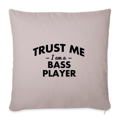 bass player cushion - Sofa pillowcase 17,3'' x 17,3'' (45 x 45 cm)