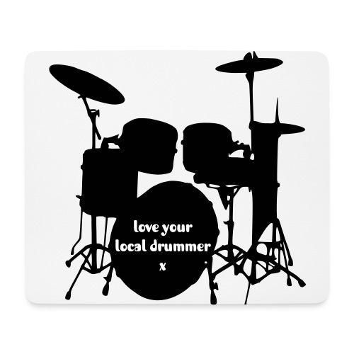 drummer mousemat - Mouse Pad (horizontal)