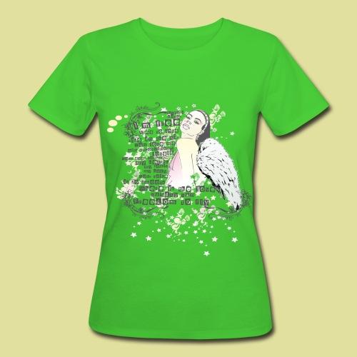 Angel Lyrics and Glitter In The Air - Frauen Bio-T-Shirt