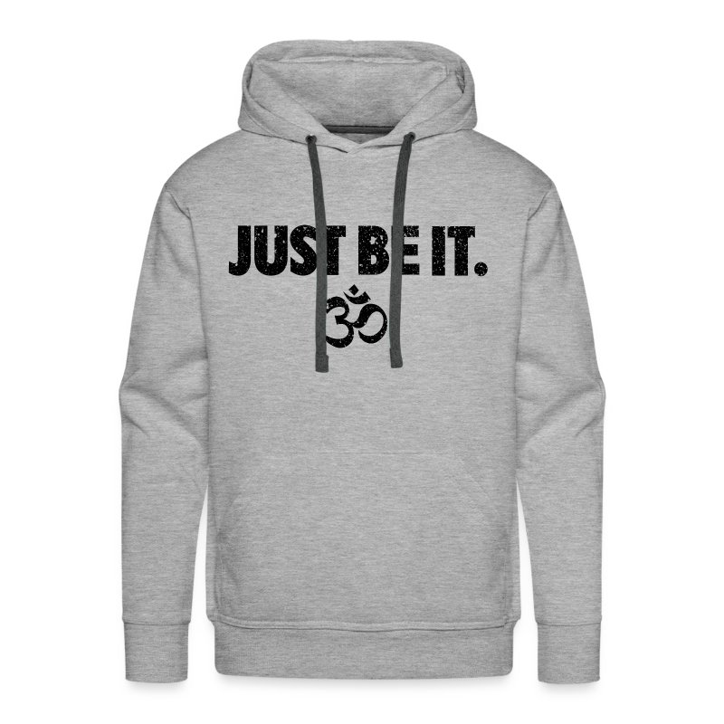 JUST BE IT Men's Hoodie (black logo) - Men's Premium Hoodie