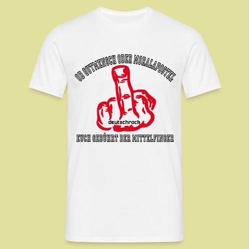 Mittelfinger Deutschrock  - Männer T-Shirt