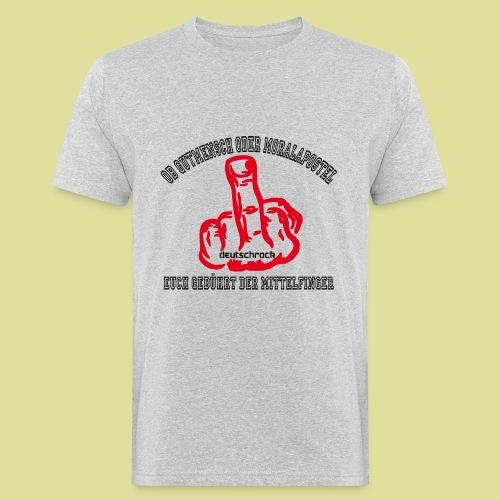Mittelfinger Deutschrock  - Männer Bio-T-Shirt
