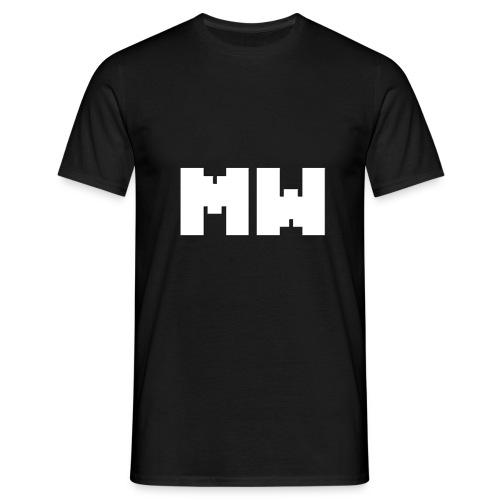 Black T-shirt With Minecraft World Logo - Camiseta hombre