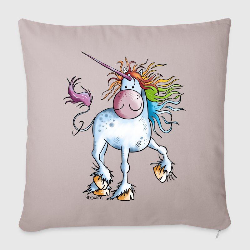 Copricuscino per divano con arcobaleno unicorno spreadshirt - Copricuscino per divano ...