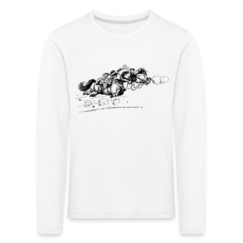 Thelwell Western Pony run away - Kids' Premium Longsleeve Shirt