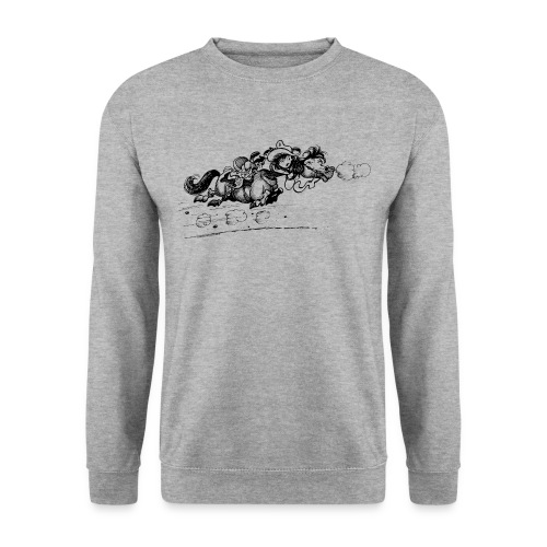 Thelwell Western Pony run away - Men's Sweatshirt
