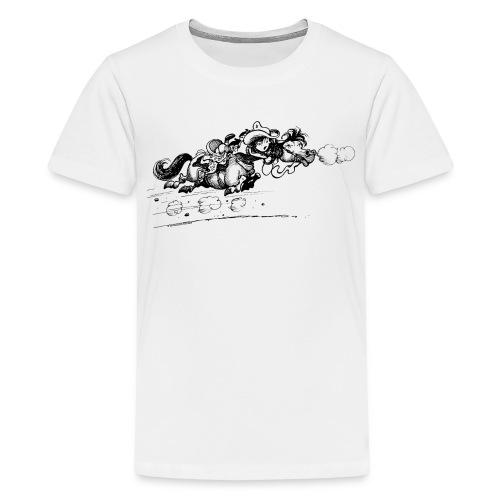 Thelwell Western Pony run away - Teenage Premium T-Shirt