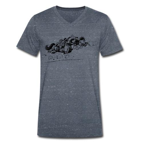 Thelwell Western Pony run away - Men's Organic V-Neck T-Shirt by Stanley & Stella
