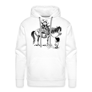 Thelwell Cowboy with his Pony - Men's Premium Hoodie