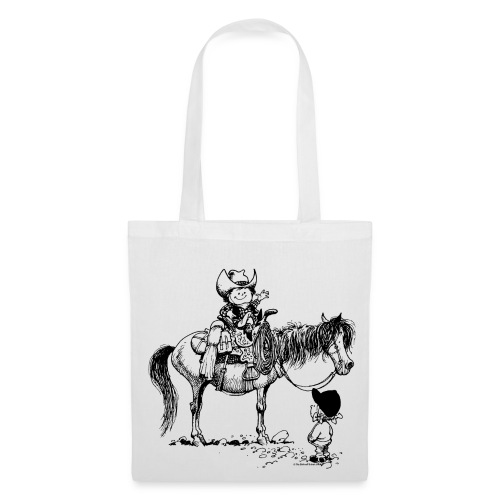 Thelwell Cowboy with his Pony - Tote Bag