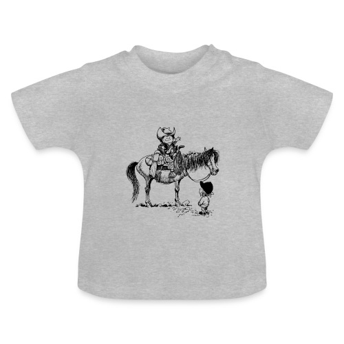 Thelwell Cowboy with his Pony - Baby T-Shirt