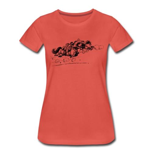 Thelwell Western Pony run away - Women's Premium T-Shirt