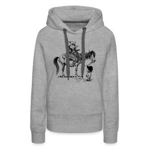 Thelwell Cowboy with his Pony - Women's Premium Hoodie