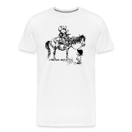 T-Shirts ~ Men's Premium T-Shirt ~ Thelwell Cowboy with his Pony