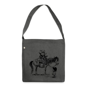 Thelwell Cowboy with his Pony - Shoulder Bag made from recycled material