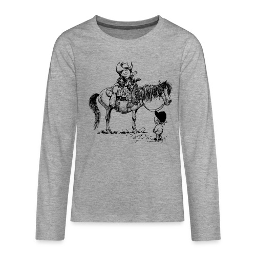 Thelwell Cowboy with his Pony - Teenagers' Premium Longsleeve Shirt