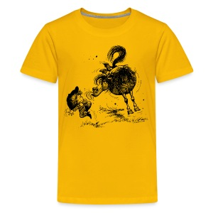 Thelwell Cheeky Pony - Teenage Premium T-Shirt