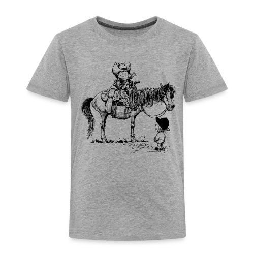 Thelwell Cowboy with his Pony - Kids' Premium T-Shirt