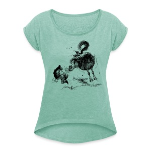 Thelwell Cheeky Pony - Women's T-shirt with rolled up sleeves