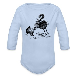 Thelwell Cheeky Pony - Organic Longsleeve Baby Bodysuit