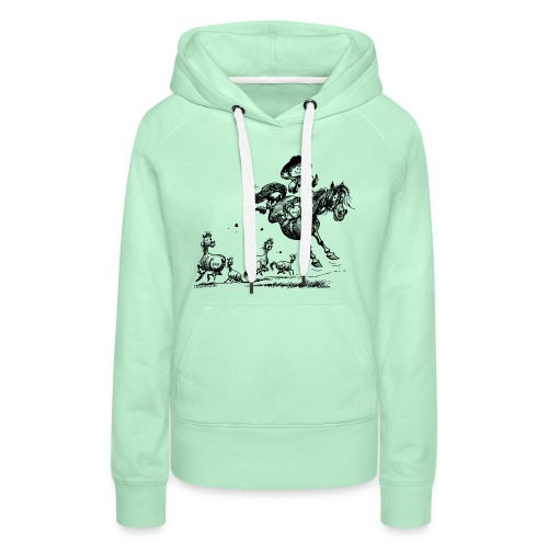 Thelwell Western Rodeo - Women's Premium Hoodie