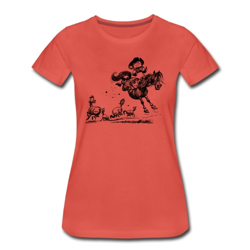 Thelwell Western Rodeo - Women's Premium T-Shirt