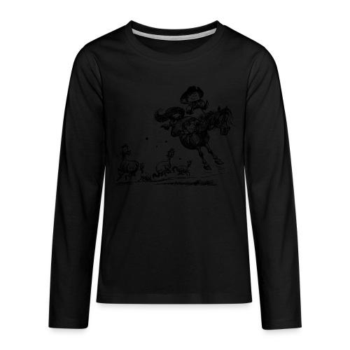 Thelwell Western Rodeo - Teenagers' Premium Longsleeve Shirt