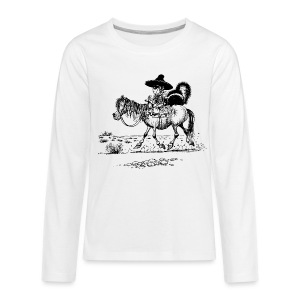 Thelwell Cowboy with a skunk - Teenagers' Premium Longsleeve Shirt