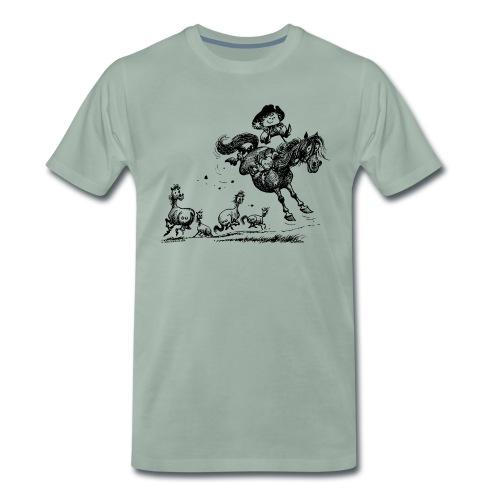 Thelwell Western Rodeo - Männer Premium T-Shirt